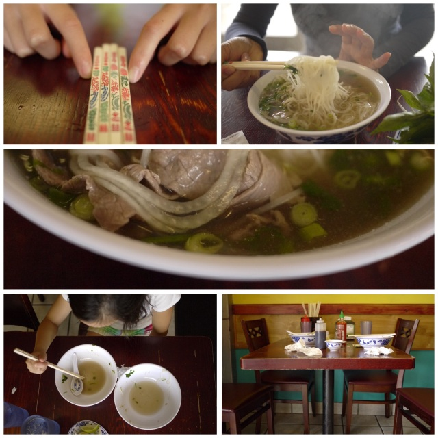 photo collage of Pho Tai